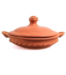Tajín Barro - Coprire con manico - Modello 2 - Cucina fatta in casa e sana - 21 cm