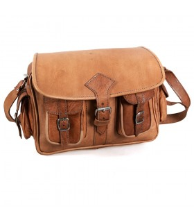Handmade bag leather - 6 pockets - 2 colors - artisan
