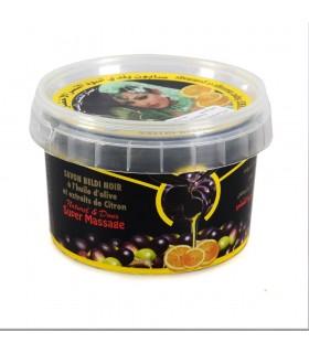 Jabón Beldi Negro - BIO - Aceite De Oliva Y Extractos De Rosa - Dulce Y Natural - 250 g