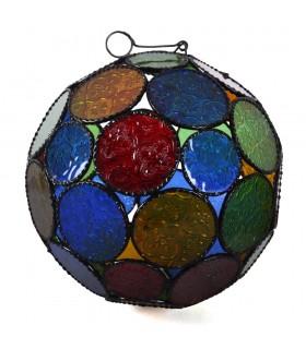 Sphère lampe verre couleurs andalou - arabe - - 2 tailles