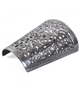 Wand Aluminium Tiefgang - Floral - poliert