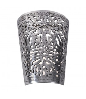 Wall aluminum draught - Floral - polished finish
