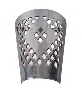 Finitura alluminio bozza di muro - floreale - lucidato