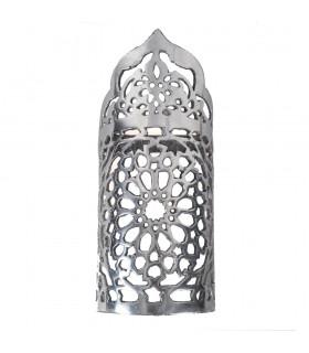 Wand-Aluminium-Tiefgang - Blumenmuster - poliert - Ende 20 cm