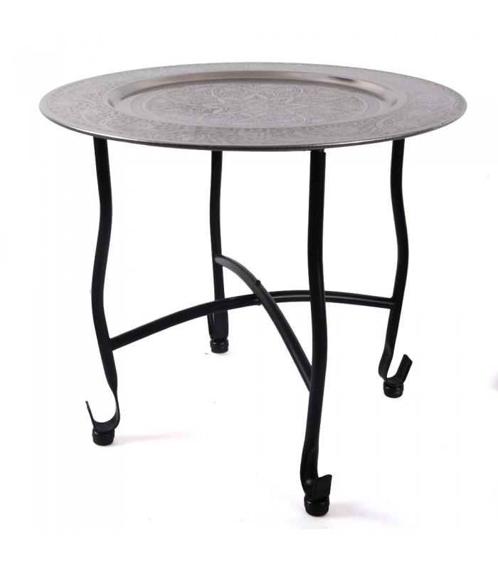 Table engraved silver Arabic - detachable - 40 cm - Floral Design
