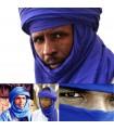 Taschentuch Tuareg Baumwolle - Navy-blau 2-Ton - Qualität- 180 cm