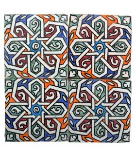 Al-Andalus - piastrelle artigianali di 10cm - parecchi disegni - - modello 36
