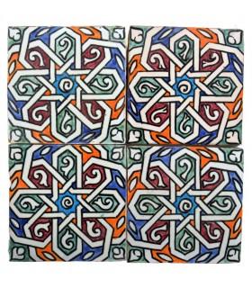 Azulejo Andalusí - 10 cm - Varios Diseños- Artesanal- Modelo 39