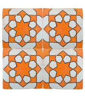 Azulejo Andalusí - 10 cm - Varios Diseños- Artesanal- Modelo 41