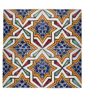 Azulejo Andalusí - 10 cm - Varios Diseños- Artesanal- Modelo 43