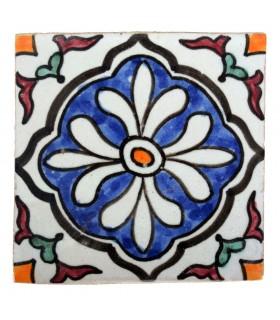 Azulejo Andalusí - 10 cm - Varios Diseños- Artesanal- Modelo 45