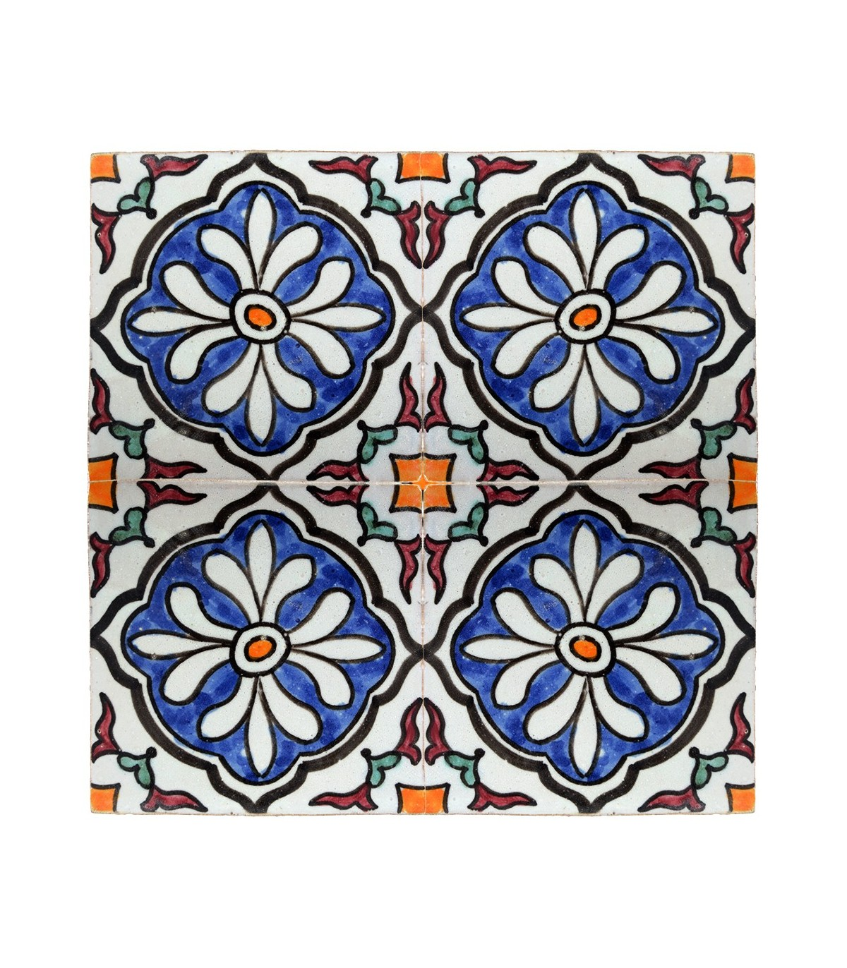 Azulejo andalus 10 cm artesanal modelo 45 online for Azulejos on line