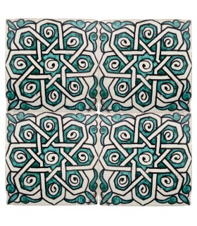 Al-Andalus - 10 cm - several designs - handcrafted tile - model 36