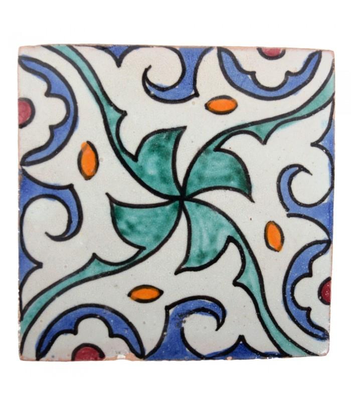 Azulejo Andalusí - 10 cm - Varios Diseños- Artesanal- Modelo 51
