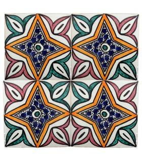 Azulejo Andalusí - 10 cm - Varios Diseños- Artesanal- Modelo 53