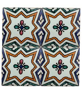 Azulejo Andalusí - 10 cm - Varios Diseños- Artesanal- Modelo 54