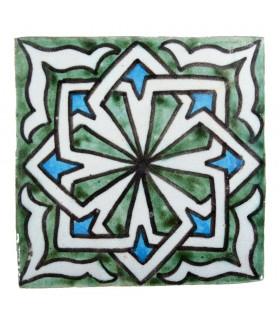 Azulejo Andalusí - 10 cm - Varios Diseños- Artesanal- Modelo 55