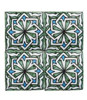 Al-Andalus - carreaux faits à la main 10 cm - plusieurs motifs - - modèle 36