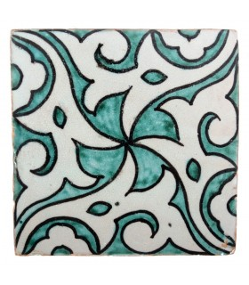 Al-Andalus - 10 cm - several designs - handcrafted tile - model 36