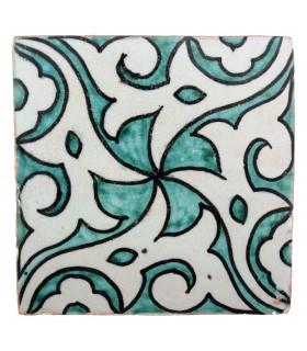Azulejo Andalusí - 10 cm - Varios Diseños- Artesanal- Modelo 58
