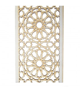 Arabic lattice stall - wood cut by Laser - model 5 - 6 cm