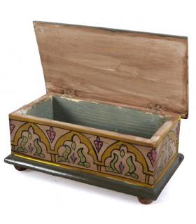 Baú árabe - feita e mão - pintado de cores vivas - qualidade