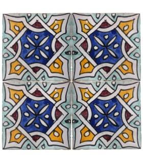 Azulejo Andalusí - 10 cm -Artesanal- Modelo 60