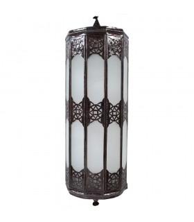 Appliquer le tirant d'eau de verre allongée - blanc opaque - arabe - 50 cm