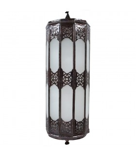 Apply glass elongated - white opaque - draught Arabic - 50 cm