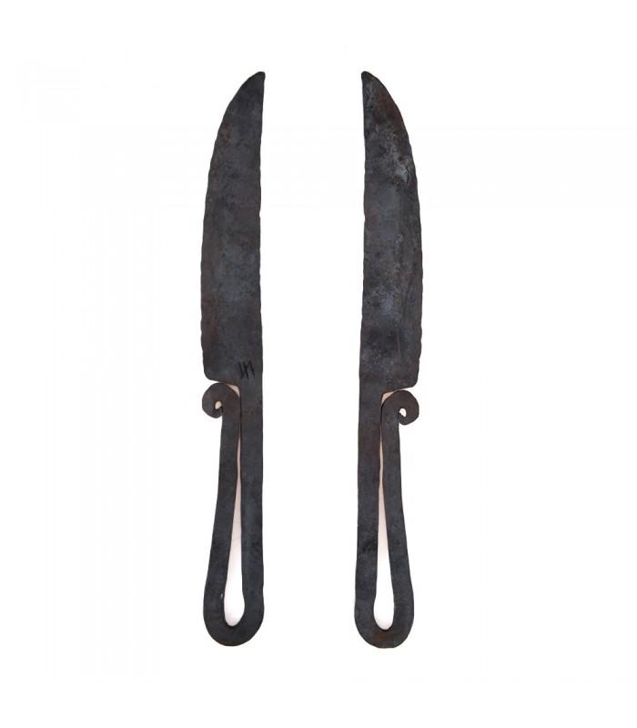 Cuchillo Forja Supervivencia Artesanal - NO AFILADO - 32 cm
