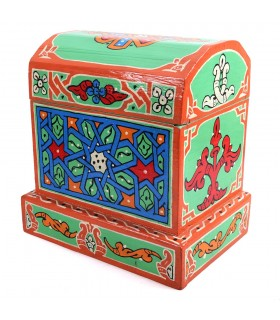 Trunk Arab - made and hand - painted bright colours - quality