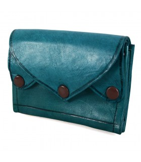 Leather Wallet - Clip Closure - 4 Pockets