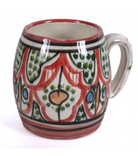 Cup ceramic Arabic - Andalusian decor - handmade - 10 cm - various colors