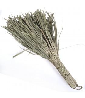 Escoba de Mano Artesanal Palmito - 46 cm - Ideal para Alfombras
