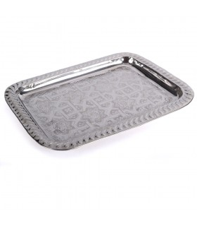 Rectangular Tea Tray - Andalusian Engraving - Wavy Edge