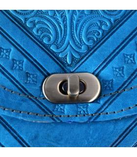 Bolso Cuero Artesanal - Funda Tablet - De Mano o Para Colgar - 2 Compartimentos - Cierre Fácil - Varios Colores - 31 cm