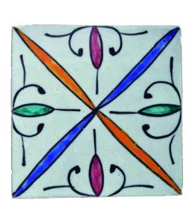 Azulejo Andalusí - 10 cm -Artesanal- Modelo 63