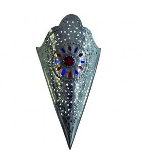 Aplique Bronce Bañado Níquel - Diseño Estrella - Resina Colores