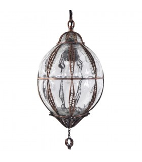 Turkish - cast and blown glass lamp - design Istanbul - large