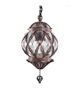 Turkish - cast and blown glass lamp - design Sultan - small