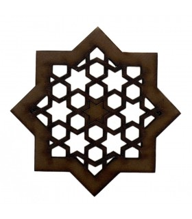 Arabic lattice openwork - design Alhambra - magnet fridge - model 2