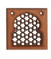 Celosía Árabe Calada - Diseño Alhambra - Imán Nevera - Modelo 3