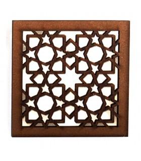 Celosia Arabe Calada - Diseño Alhambra - Iman Nevera - Modelo 4