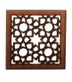 Geladeira de ímã retículo árabe openwork - projeto Alhambra - - modelo 4