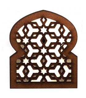 Celosia Arabe Calada - Diseño Alhambra - Iman Nevera - Modelo 5
