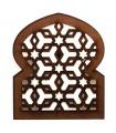 Geladeira de ímã retículo árabe openwork - projeto Alhambra - - modelo 5