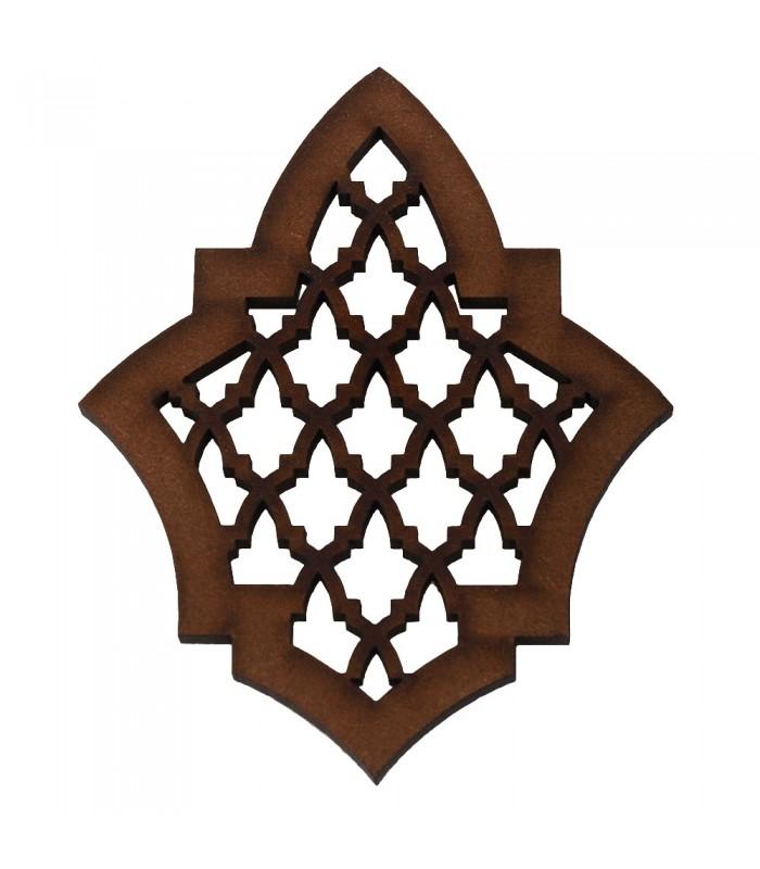 Celosia Arabe Calada - Diseño Alhambra - Iman Nevera - Modelo 6