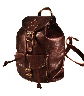 Leather Backpack - 2 Pockets - Model YEIBEIN