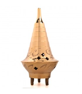 Incensario Conos Bronce - Modelo BABEL - 14 cm