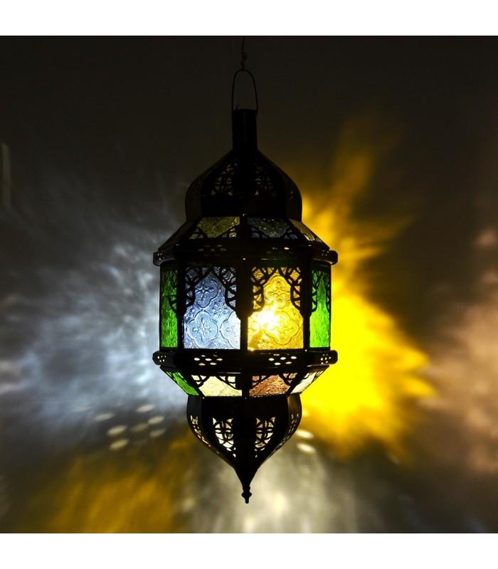 Lámpara Arcos Andalusís - Cristales Colores - 50 cm - Cadena y ...